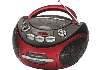 Produktbild AEG. SR 4353  Radiorecorder  Rot/Schwarz
