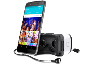 Produktbild ALCATEL Idol 4 inkl. VR Brille  Smartphone  16 GB  5.2 Zoll  Grau