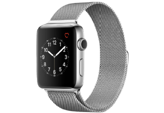 Produktbild APPLE Watch Series 2 42 mm  Smart Watch  Edelstahl Milanese Armband  Silber/Silber