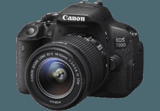 Produktbild CANON EOS 700D Spiegelreflexkamera  18 Megapixel  CMOS Sensor  18-55 mm Objektiv (IS)  Autofokus