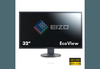 Produktbild EIZO EV3237-BK  Monitor mit 80.01 cm / 31.5 Zoll UHD 4K Display  16 ms Reaktionszeit  Anschlüsse: