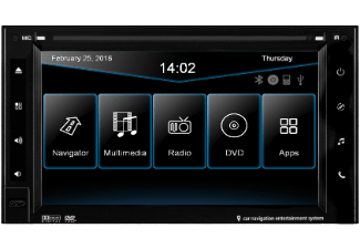Produktbild ESX VNC620W  Naviceiver mit iGo Navigationssoftware  2 DIN (Doppel-DIN)  Ausgangsleistung/Kanal: 50