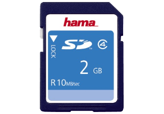 Produktbild HAMA 055377 SD Speicherkarte  2 GB  10 MB/s  Class 4