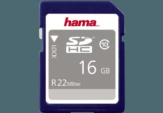 Produktbild HAMA 104367 SDHC Speicherkarte  16 GB  22 MB/s  Class