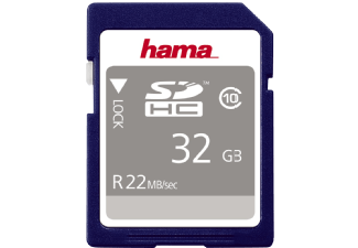 Produktbild HAMA 104368 SDHC Speicherkarte  32 GB  22 MB/s  Class