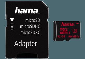 Produktbild HAMA 123981 + A/F Micro-SDHC Speicherkarte  32 GB  80 MB/s  UHS Class