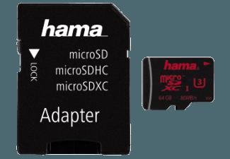 Produktbild HAMA 123988 + Adapter/Action-Cam Micro-SDXC Speicherkarte  64 GB  80 MB/s  UHS Class