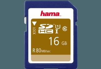 Produktbild HAMA 124134 SDHC Speicherkarte  16 GB  80 Mbit/s  Class