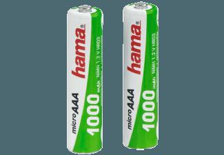 Produktbild HAMA 2er Pack  AAA Micro  1000 mAh