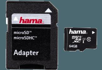 Produktbild HAMA mit Adapter/Foto Micro-SDXC Speicherkarte  64 GB  22 MB/s  Class