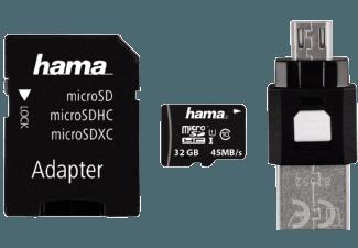Produktbild HAMA OTG-Zubehör-Set 4-teilig Micro-SDHC Speicherkarte  32 GB  45 Mbit/s  Class