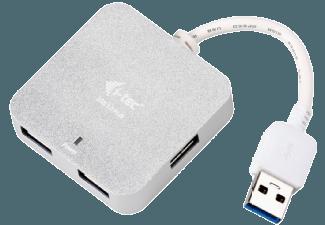 Produktbild I-TEC U3HUBMETAL402  USB Hub  Silber