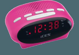 Produktbild ICES ICR-210  Uhrenradio  Pink