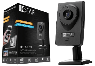 Produktbild INSTAR IN-6001HD  IP Kamera  1280 x 720 Pixel  Schwarz