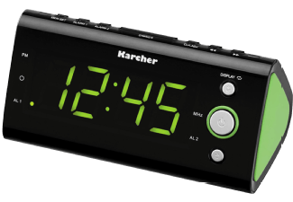 Produktbild KARCHER UR 1040-G  Uhrenradio  Schwarz/Grün