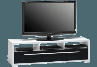Produktbild MAJA 76453547 7645  Lowboard  Weiß uni - schwarz