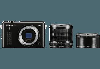 Produktbild NIKON 1 AW1 Systemkamera  14.2 Megapixel  1x  2.5x opt. Zoom  CMOS Sensor  10 mm  11-27.5 mm