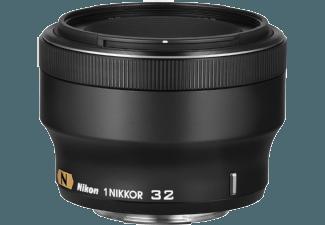 Produktbild NIKON 1 NIKKOR 32mm 1:1 2 32 mm f/1.2  Porträtobjektiv  System: Nikon 1