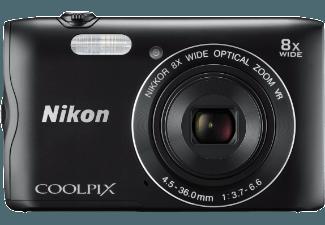 Produktbild NIKON COOLPIX A300 Kompaktkamera  20.1 Megapixel  8x opt. Zoom  CCD Sensor  WLAN  25-200 mm