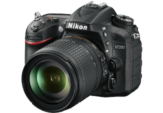 Produktbild NIKON D7200 Spiegelreflexkamera  24.2 Megapixel  CMOS  DX Sensor  Externer Blitzschuh  Near Field