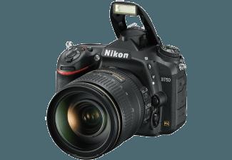 Produktbild NIKON D750 Spiegelreflexkamera  24.3 Megapixel  CMOS Sensor  WLAN  24-120 mm Objektiv (AF-S  VR)