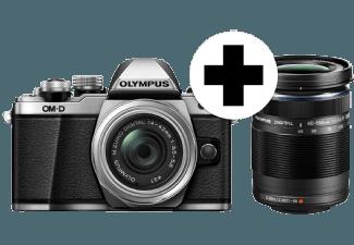 Produktbild OLYMPUS OM-D E-M10 Mark II  14-42 mm II R  40-150 mm II R  Systemkamera