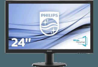 Produktbild PHILIPS 240V5QDAB/00  Monitor mit 60.5 cm / 23.8 Zoll Full-HD Display  5 ms Reaktionszeit