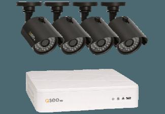Produktbild Q-SEE QTH8-4Z3-1  IP Kamera Set  Weiß/Schwarz