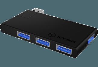 Produktbild RAIDSONIC IB-HUB1401  USB-Hub  Schwarz