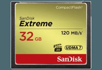 Produktbild SANDISK Extreme Compact Flash Speicherkarte  32 GB  120
