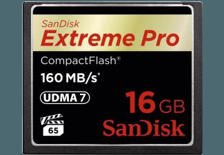 Produktbild SANDISK Extreme Pro Compact Flash Speicherkarte  16 GB  160 MB/s