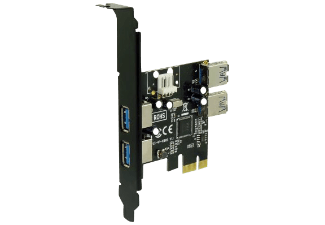 Produktbild SEDNA PCI-E auf USB 3.0 Adapter  PCI-E Adapterkarte mit 4 USB 3.0