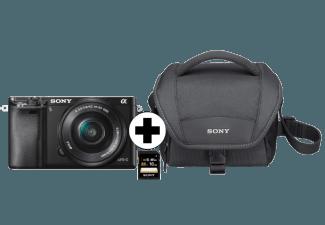 Produktbild SONY A6000 (ILCE6000LBCDI) Kit Systemkamera  24.3 Megapixel  Full HD  Exmor CMOS Sensor  Externer