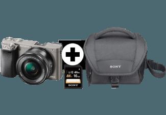 Produktbild SONY Alpha 6000 LH Kit Systemkamera  24.3 Megapixel  Full HD  Exmor APS-C Sensor  Externer