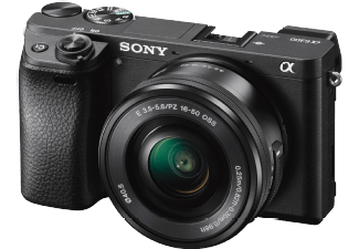 Produktbild SONY Alpha 6300 (ILCE-6300LB) Systemkamera  24.2 Megapixel  4K  Exmor APS-C Sensor  16-50 mm