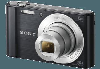 Produktbild SONY DSC-W810 B.CE3 Kompaktkamera  20.1 Megapixel  6x opt. Zoom  HD  Super-HAD-CCD Sensor  26-156