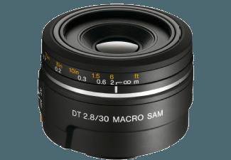 Produktbild SONY DT 30mm F2 8 SAM Makro 30 mm Objektiv f/2.8  System: Sony A-Mount