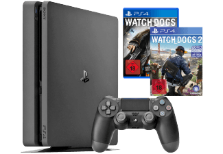 Produktbild SONY PlayStation 4 Konsole Slim 1TB +  Watch Dogs + Watch Dogs