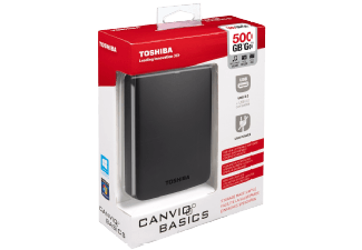 Produktbild TOSHIBA Canvio Basics  Externe Festplatte  500 GB  2.5