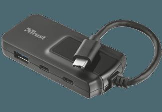 Produktbild TRUST 21321 Oila 2+2 PORT USB-C & USB 3.1  USB-Hub  Schwarz