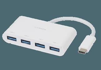 Produktbild VIVANCO 34292 4-Ports  USB-C Hub  Weiß