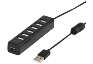 Produktbild VIVANCO 36661  USB Hub  Schwarz